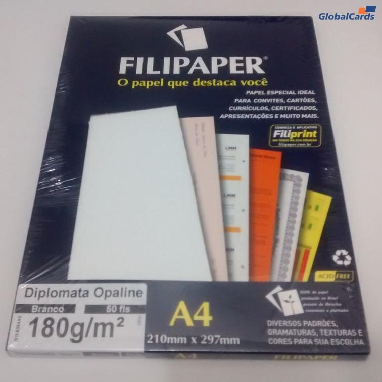 Papel Filipaper Diplomata A4 Branco 180g/m2
