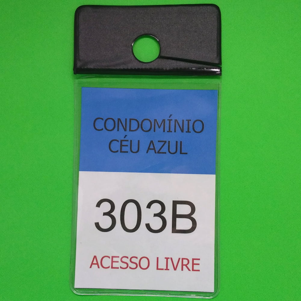 Porta Bolsa de Estacionamento PVC 001 Vertical com Furo e rasgo