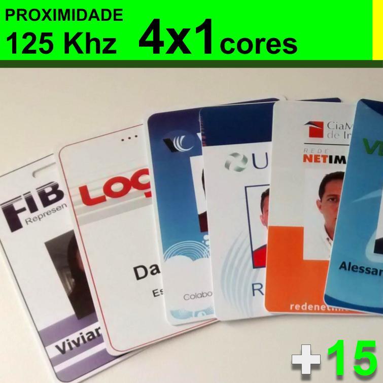 Crachás de PVC 0,76mm Personalizado com PROXIMIDADE ISO 125khz 4x1 Cores