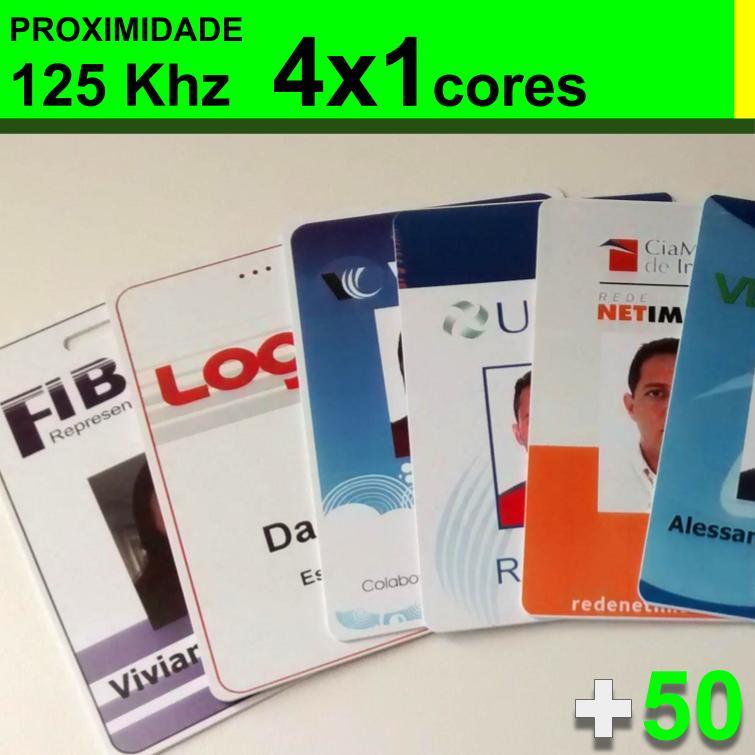 Crachás de PVC 0,76mm de Proximidade 125khz 4x1 Cores