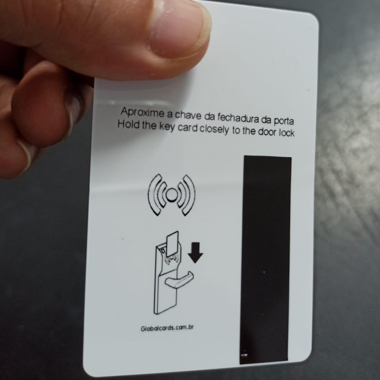 Cartão PVC Fechadura Hotel RFID - Economizador de Energia Onity 4x4cor Personalizado