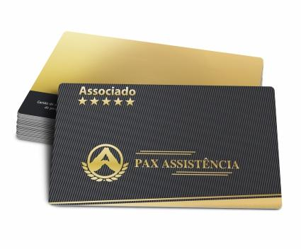 Cartão para Associado Impresso PVC 0,76mm - 4x4 Cores