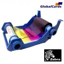 Ribbon Zebra 800015-240BR YMCKO (Color) 200 imp. P100i, P110i e P120i substitui o 800015-940BR
