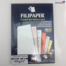 Papel Filipaper Diplomata A4 Branco 180g/m2 cx c/ 50