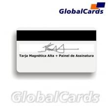 Cartão Magnético PVC c/ Tarja ou Banda Magnética de Alta com Painel de Assinatura
