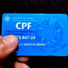 Cartão CPF em PVC 0,76mm 4x4 Cores Impressão Colorida - Ped Mínimo 3