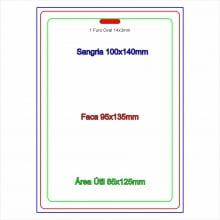 Credencial Eventos em PVC 0,46mm 4x0 cores tamanho 9,5 x 13,5cm