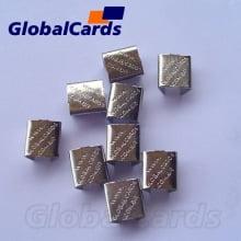 Fixador de solda (chapinha globalcards) para cordão 09mm Terminal sem cabeça 7,5mm