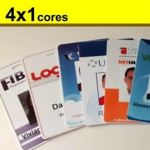 Crachás PVC 0,76mm 4x1 Cores com Dados Frente Cor e Verso P&B