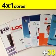 Crachás PVC 0,76mm 4x1 Cores com Dados Frente Cor e Verso P&B Pedido mínimo  30 un.