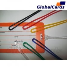 Alça de Etiqueta de Bagagem cordão de Silicone transparente 17cmx2mm (1000 unidades )