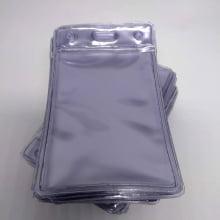 Bolsa de PVC Transparente Vertical 60x90mm para crachás área útil 54x86mm (100 unid.)