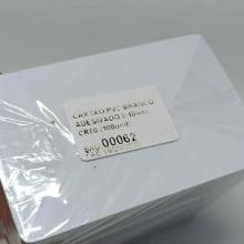 Cartão de PVC Branco 0,46mm CR-80 Adesivado caixa com  100 unidades