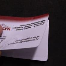 Cartão de PVC Branco Adesivado 0,76mm para cartão proximidade (cx c/ 100 unidades)