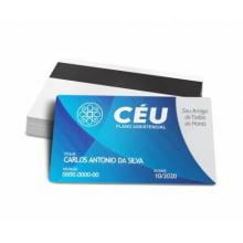 Cartão para Associado Dados Variáveis PVC 0,76mm - 4x4 Cores
