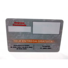 Cartão Pre Impresso PVC 0,76mm - 4x4 Cores 1000 Unidades