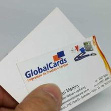 Cartão de Visita Couchê 300g Fosco Verniz Local 9x5cm 4x0 Cores com 1000 Unidades