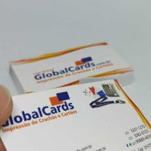 Cartão de Visita Couchê 300g Fosco Verniz Local 9x5cm 4x4 Cores com  500 Unidades