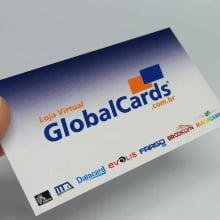 Cartão de Visita Couchê 300g UV FR 9x5cm 4x4 500 Unidades