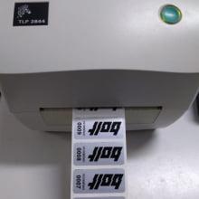Etiqueta Adesiva Poliester Prata Cromo Patrimônio 46x20mm