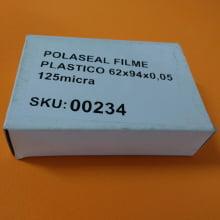 Polaseal Filme Plástico  62x94x0,05 (125micra) para Crachá