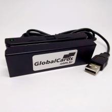 Leitor de Cartão Magnético MSR-100 Globalcards Trilhas 1, 2, 3 Alta e Baixa p Unimed e outros planos saúde