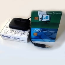 Leitor de cartão com chip Smart Card para Certificado Digital - Modelo SmartNonus
