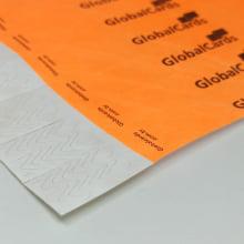 Pulseiras Identificação Eventos e Festas Tyvek Laranja Fluor/Orange personalizadas em preto (min  100)
