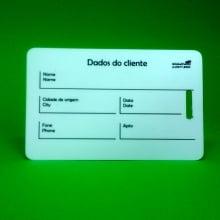 Cartão de Identificação de Bagagem com alça transparente de pvc 0,76mm 4x1cores