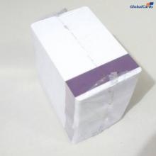 Cartão de PVC com Tarja Proteção Roxa Vertical para ocultar o Código de Barras (cx c/ 100 unidades)