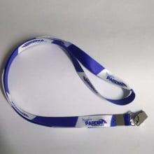 Cordão Digital 15mm para crachá c/ presilha clips jacaré (mínimo de 100)
