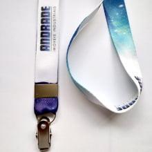 Cordão Personalizado Digital 20mm para Crachá com Presilha Clips Jacaré com mínimo de 200