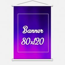 Banner Lona 280gr 80x120cm 4x0 cores