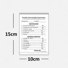 Blocos ou Comandas Sulfite 75g Preto Branco 10x15cm 1x0 cores c/ 10 blocos de 100 folhas