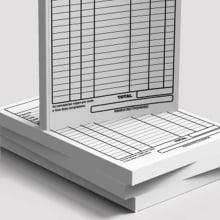 Receituários / Recibos Blocos ou Comandas Sulfite 75g Preto Branco 14x20cm 1x0 cores Bloco 100 fls kit c/  5