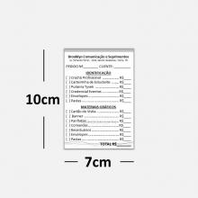 Receituários / Recibos Blocos ou Comandas Sulfite 75g Preto Branco  7x10cm 1x0 cores Bloco 100 fls kit c/ 50