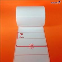 Etiqueta Adesiva BOPP  100x30mm x 1 coluna