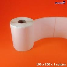 Etiqueta Adesiva BOPP 100x100mm x 1 coluna